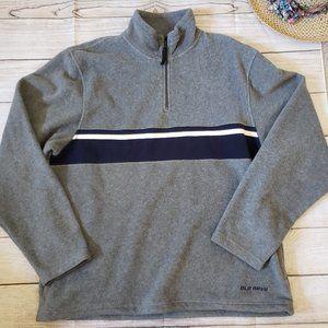 OLD NAVY gray fleece half zip pull up sweater XL